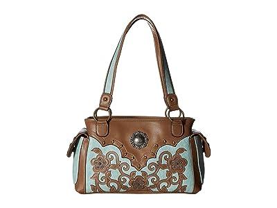 M&F Western Calico Kate Conceal Carry Satchel (Brown) Handbags