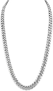 """Esquire Men's Jewelry Sterling Silver 9mm Diamond Cut Curb Link Necklace, 22"""""""