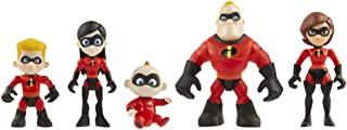 The Incredibles 2 Family 5-Pack Junior Supers Action Figures,  Approximately 3 Tall