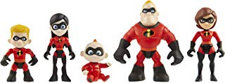 """The Incredibles 2 Family 5-Pack Junior Supers Action Figures, Approximately 3"""" Tall"""