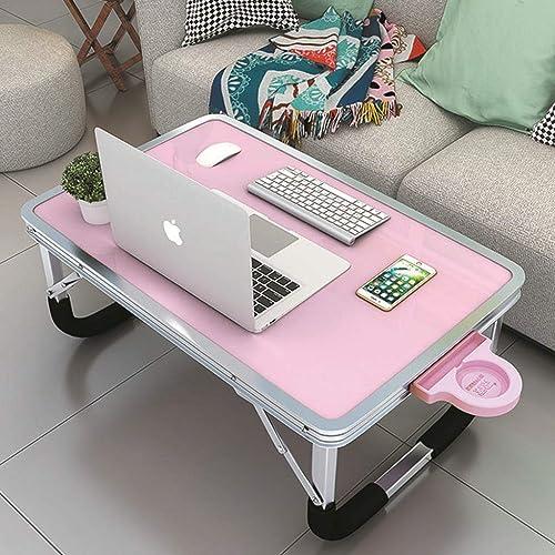BJYG Table d'étude Pliante pour Chambre à Coucher, Maison Simple, Ordinateur portable, Table Pliante (Vert) Rose