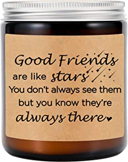 GSPY Lavender Scented Candles - Best Friend, Friendship Gifts for Women - Good Friends are Like Stars - Funny Valentines, ...
