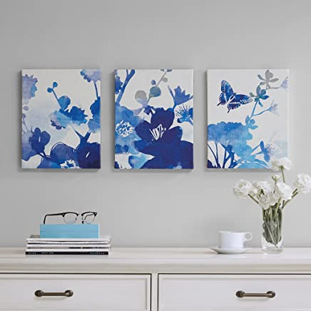 Madison Park Cobalt Garden Gel Coated Canvas 3 Piece Set See below Blue MP95C-0049