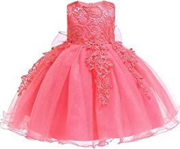 Infant Baby Girl Dress Lace Flower Baptism Dresses for Girls 1St Year Birthday Party Wedding Baby Cothing