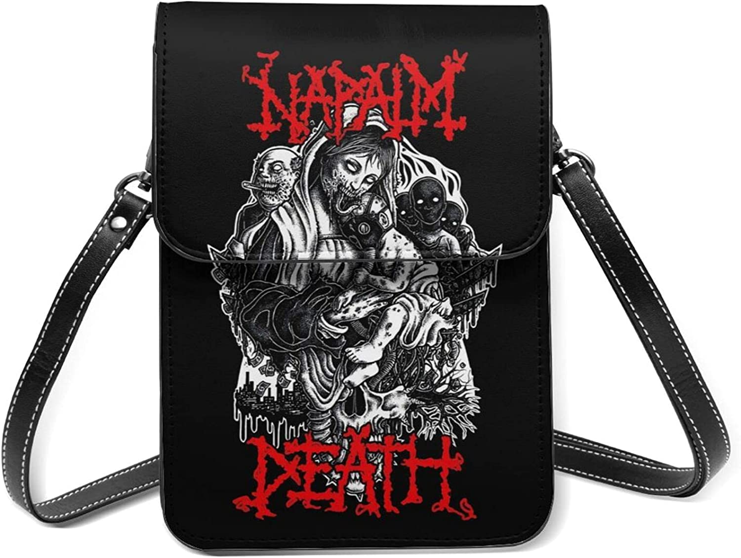 Napalm Death Small Cell Phone Leather Crossbod Max 83% OFF Lightweight Purse Long-awaited