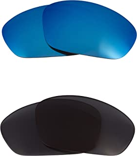 Replacement Lenses Compatible with OAKLEY Straight Jacket Polarized Grey & Blue