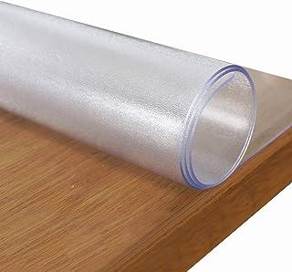 WUZMING 1,6mm De Espesor Mantel Transparente Impermeable Protector De Cubierta De Mesa Transparente Hogar Oficina PVC Anti...