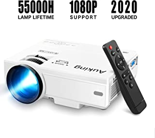 Mini Projector 2020 Upgraded Portable Video-Projector,55000 Hours Multimedia Home Theater..