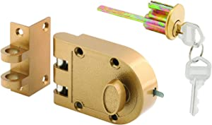 Prime-Line Products U 9970 Prime-Line Single Cylinder Jimmy-Proof Deadlock, Die Cast, Brass Finish