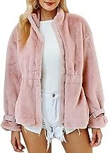 BerryGo Women's Fashion Faux Fur Zipper Coat Elegant Soft Fur Outwear Jacket