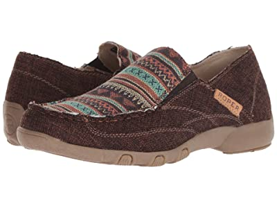 Roper Johnnie (Tan Canvas/Stripe Vamp) Women