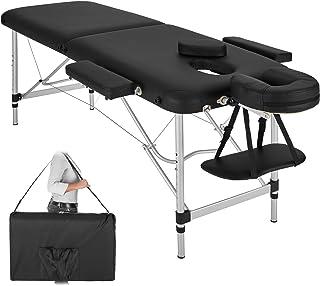 TecTake Table de Massage Pliante Aluminium Cosmetique Lit de Massage Portable + Housse de Transport - diverses couleurs au...