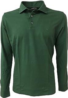 ferrante Polo Uomo Verde Manica Lunga 31611 94% Cotone 6% Elastan Made in Italy