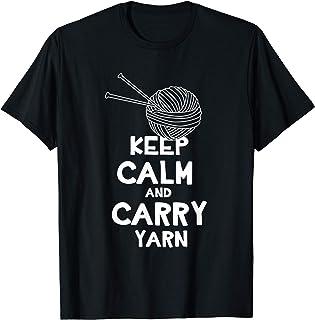 Gardez votre calme et portez un cadeau de tricot au crochet T-Shirt