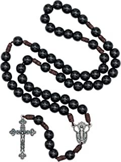 black rope rosary