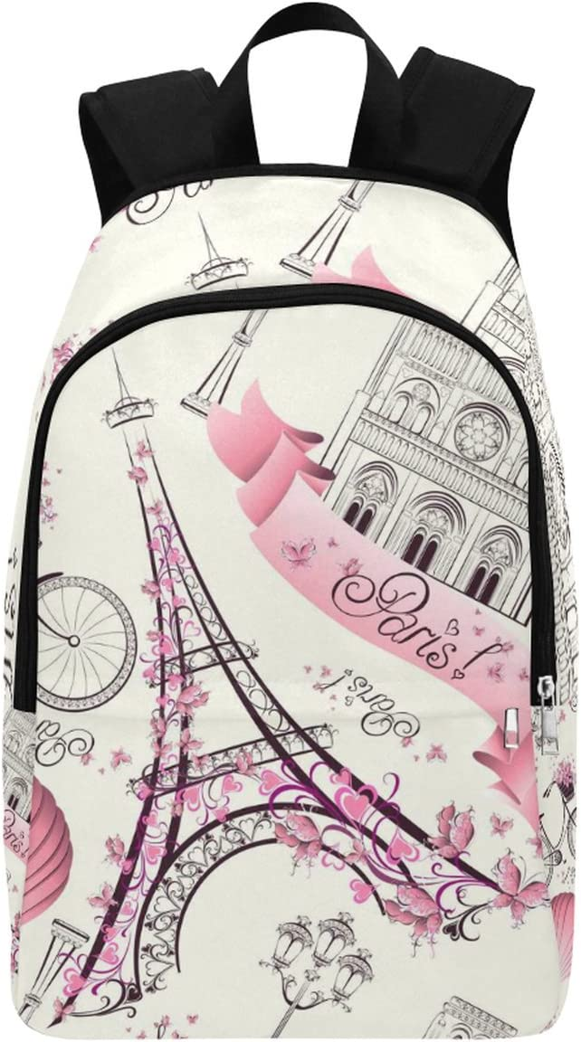 InterestPrint 35% OFF Paris Eiffer Tower Casual Bag Backpack 2021 School Trav