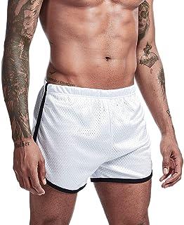 Mens Running Athletic Shorts Marathon 3 inch Mesh Booty Short Shorts for Men Sexy
