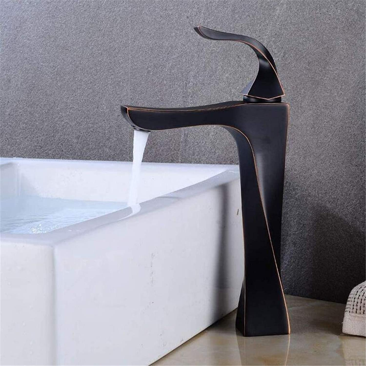 Faucet Brass Chrome Hot and Cold Water Counter Basin Faucet Faucet Retro Basin Black Ancient Hot and Cold Above Counter Basin Retro Wash Basin
