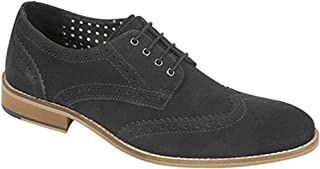 Roamers Mens 4 Eyelet Brogue Gibson Tie Shoes