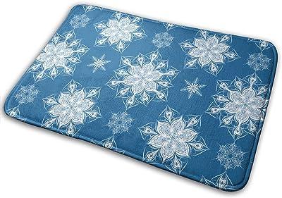 Victorian Snowflakes Carpet Non-Slip Welcome Front Doormat Entryway Carpet Washable Outdoor Indoor Mat Room Rug 15.7 X 23.6 inch