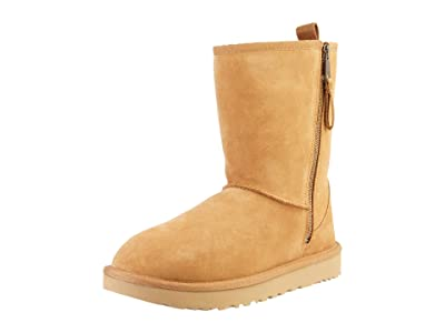 UGG SINGLE SHOE Classic Short Dual Zip Boot (Chestnut) Women
