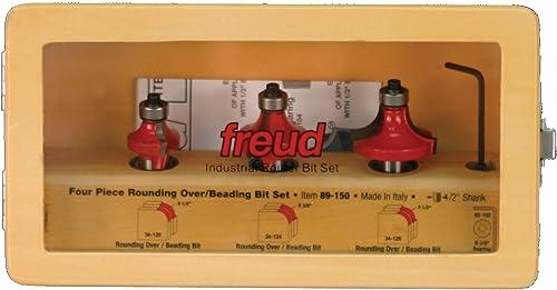 "discount Freud 2021 3 online Piece Round Over/Beading Bit Set (1/2"" Shank) (89-150) sale"