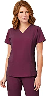 Image Scrub Top IM1110 Women's 3-Panel Mock Wrap   Perfect for Medical, Dental, Veterinary and O.R.