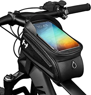 Hawk Bike Phone Mount Frame bag - Water Proof Bike Accessories as Storage and Bike Cell Phone Holder, Durable Easy to Inst...