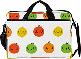 engshizilvbaihuo Unisex Laptop-Tasche, leicht, Segeltuch, Reisetasche, 33,4�,7 cm mit Schnallen, Orange / Grün