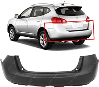 MBI AUTO - Primered, Rear Bumper Cover w/Textured Lower Area for 2008-2015 Nissan Rogue 08-15, NI1100260