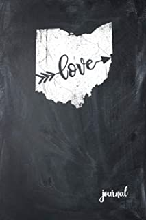 Love Journal: State of Ohio Gypsy Arrow Love Blank Diary 120 Paged College Lined 6x9 RV Travel Journal