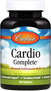 Carlson - Cardio Complete, Advanced Cardiovascular Multivitamin, Heart Health, Circulatory Support, 90 Tablets