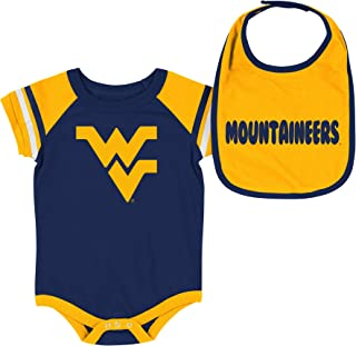 571007e05 Colosseum NCAA-Roll Out- Baby Short Sleeve Bodysuit and Matching Bib 2-Pack