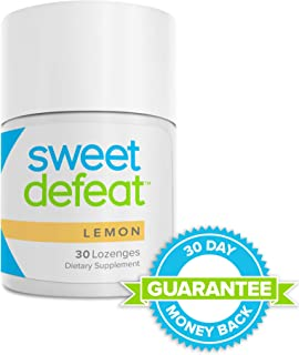 Sweet Defeat Lemon Lozenges - Reduce Sugar Cravings in Seconds, Made with Natural Gymnema Sylvestre Extract That Controls and Reduces Desire for Sweet Food - 30 Lozenges