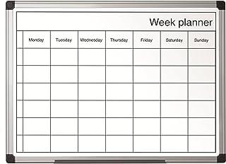 Bi-Office GA0140170 - Pizarra de planificación 400x600mm semanal, blanco