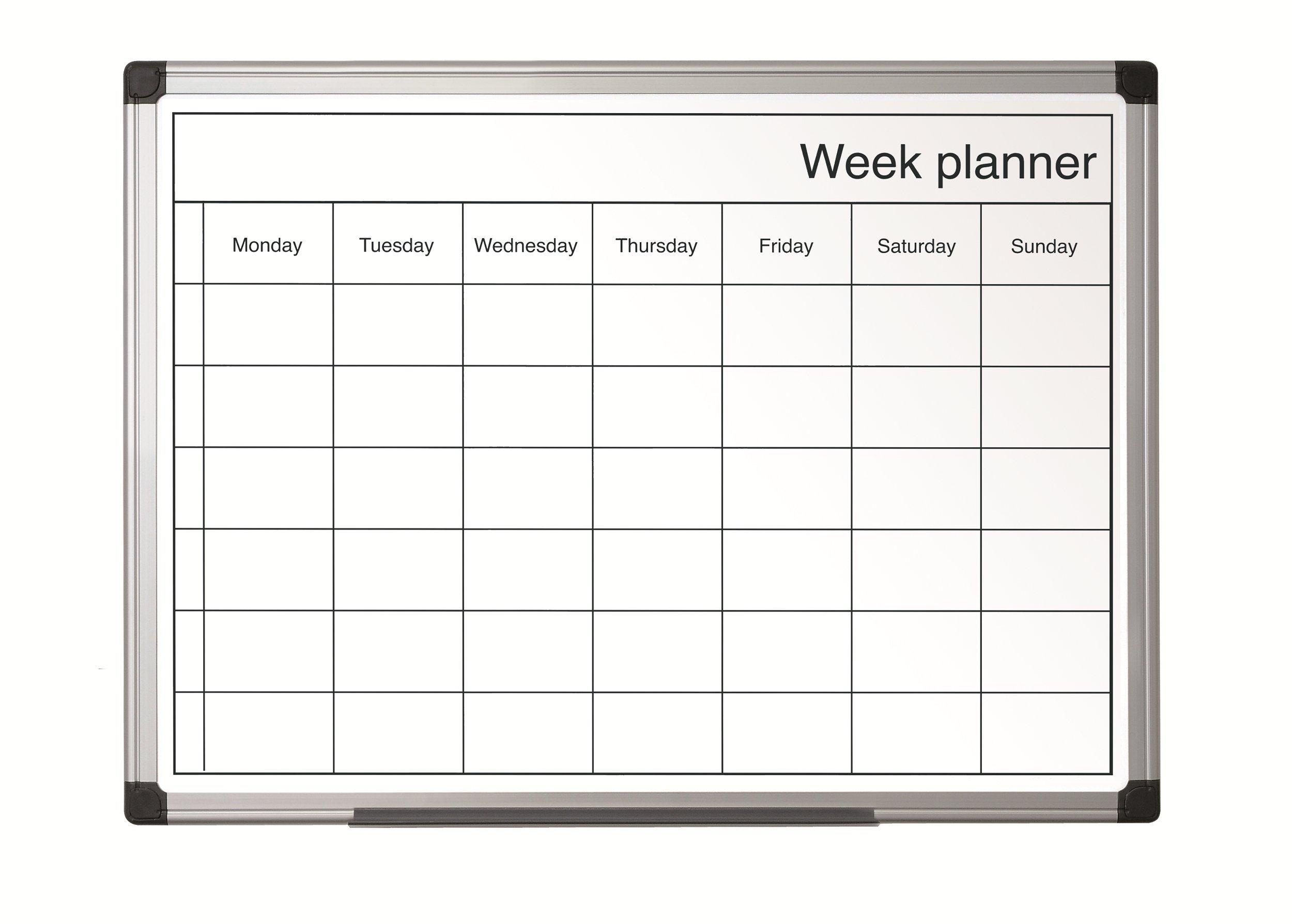 Bi-Office GA0140170 blanco Pizarra de planificaci/ón 400x600mm semanal