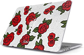 Glitbit Hard Case Cover Combatible with MacBook Pro 13 Inch Case Release 2012-2015, Model: A1502 / A1425 Retina Display NO CD-ROM Embroidered Print Red Rose Stylish Tumblr Animal Chic Vintage Girls