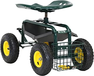 garden scooter with wheels