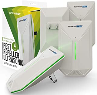 Ultrasonic Pest Repeller - Easy & Humane Way to Reject Rodents Ants Cockroaches Beds Bugs Mosquitos Fly Spiders Rats & Buts - Eco-Friendly & Safe for Human & Home Pets - 4 in Pack