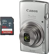 Canon PowerShot ELPH 180 Digital Camera + 64 GB Memory Card (Silver)