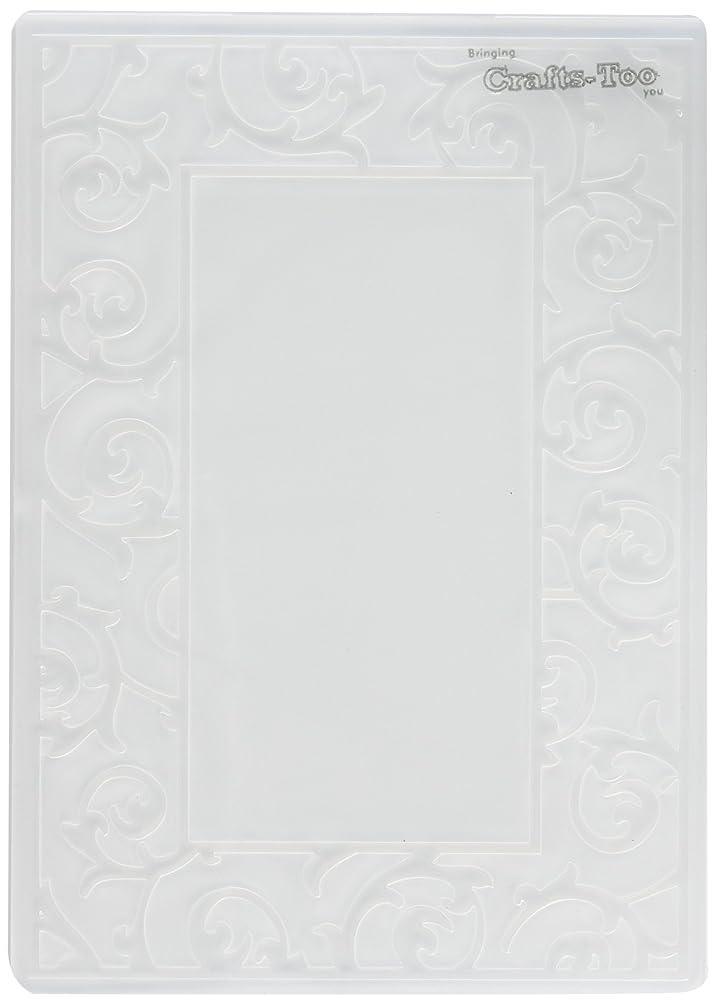 Crafts-Too Embossing Folder, Scrollwork Frame