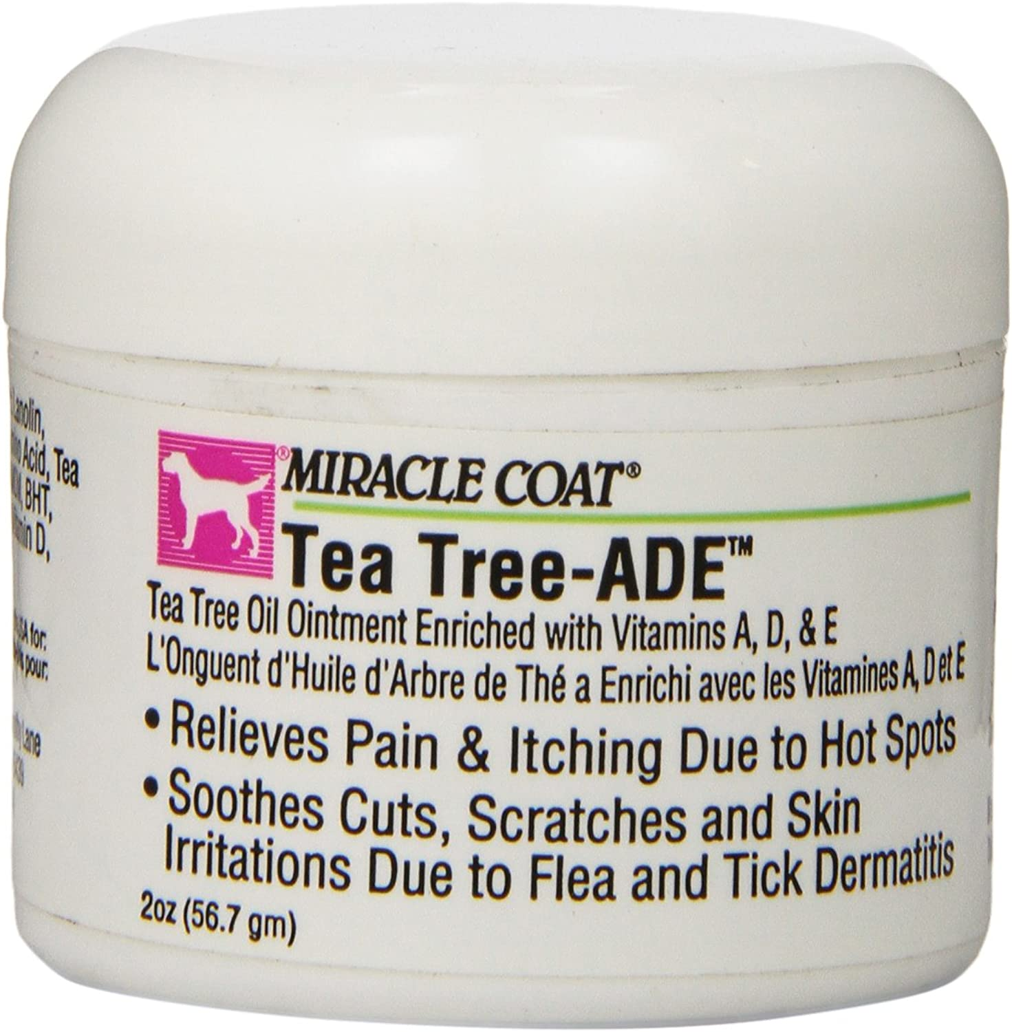 Miracle Coat Tea Tree Skin & Coat for Dogs  Ade Ointment