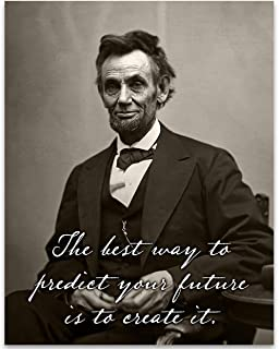 The Best Way to Predict Your Future is to Create It - 11x14 Unframed Art Print - Great Home Decor Under $15