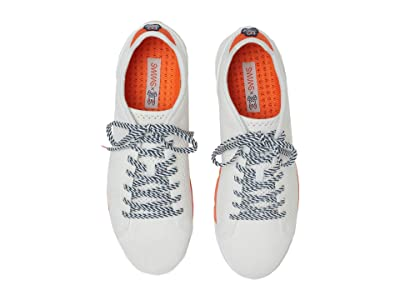 SWIMS Swims Psycho Bunny Breeze Tennis Knit (White/Orange) Men