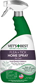 Vet's Best Flea and Tick Home Spray for Cats | Flea Treatment for Cats and Home |..