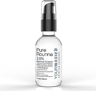 Anti Aging Retinol Cream 2.5% Retinol Serum & Anti Wrinkle Cream for Women & Men – Collagen Skin Firming Cream w/Hyaluronic Acid, Organic Green Tea Extract, Aloe Vera, Vitamin E Oil & Jojoba Oil