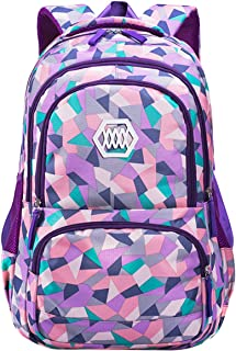 famuka Student School Backpack Kid Bookbag Laptop Travel Bag Daypack (33x24x48cm, Pruple)