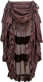 Women's Steampunk Gothic High Low Cyberpunk Skirt