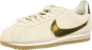 Nike Women's WMNS Classic Cortez SE, Black/Metallic Gold-Phantom
