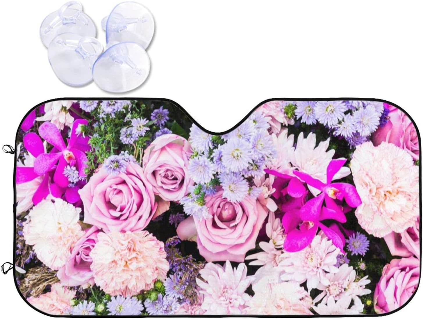 Colorful Nature Flower Backgrounds Car Discount Now on sale mail order Sun Rays Shade UV Blocks